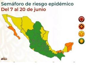 メキシコシティが緑信号に移行: 信号情報と6月4日の感染状況