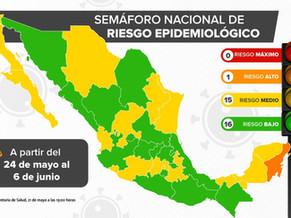 ケレタロ州・アグアスカリエンテス州が緑信号に:5月21日現在の感染状況と24日からの信号情報他