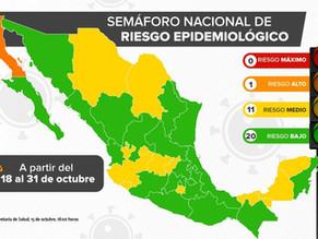 【メキシコシティが緑信号に】10月18日からの経済活動再信号情報と10月15日の感染状況