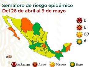 4月26日からの各州の経済活動の再開信号: 4月23日現在の感染・ワクチン接種状況