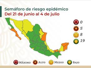 【速報】メキシコシティが黄色信号に戻る: 信号情報と6月18日の感染状況