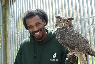 Jeremy Burnett with GH Owl.JPG