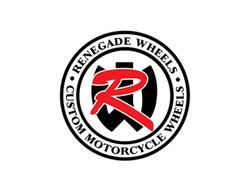 Renegade wheels custom motorcycle wheels logo