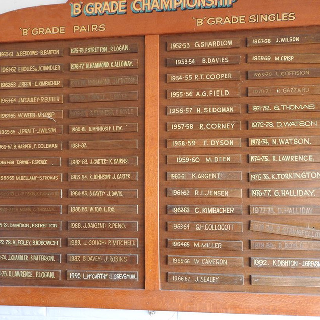 B Grade Pairs and Singles 1961 to 1992.j