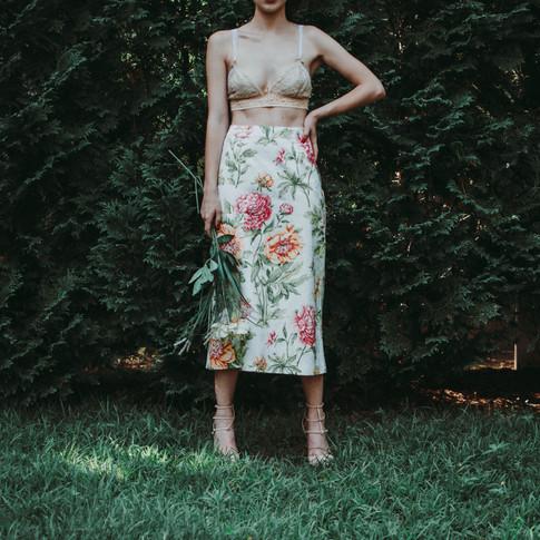 Floral Statement Skirt