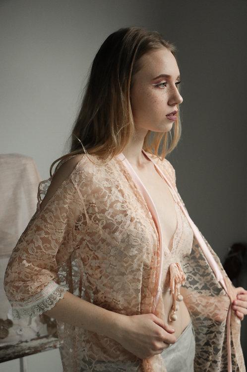 Kimono Look in Peach