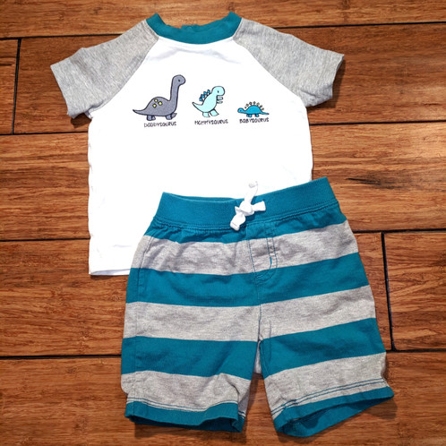 Baby Boy 2pc Dinosaur Family Outfit Do Over Duds Online