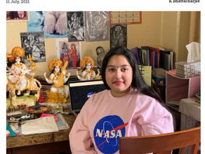 Indian American intern got viral for her Hindu faith online