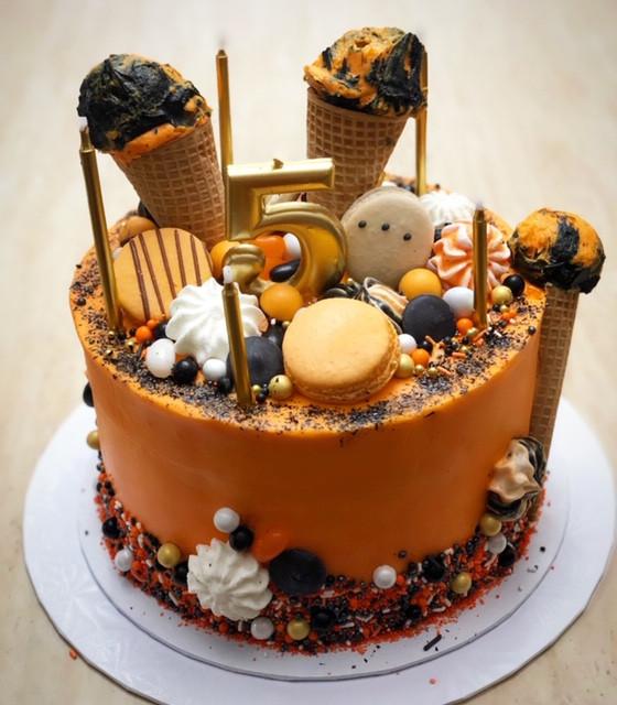 Macaron and Meringue Birthday Cake