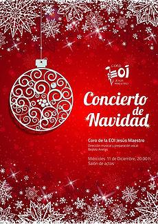 cartel del concierto de navidad en EOI.j