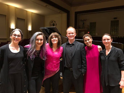 with Chamber Project St. Louis after the premiere of Absent an Adjustment