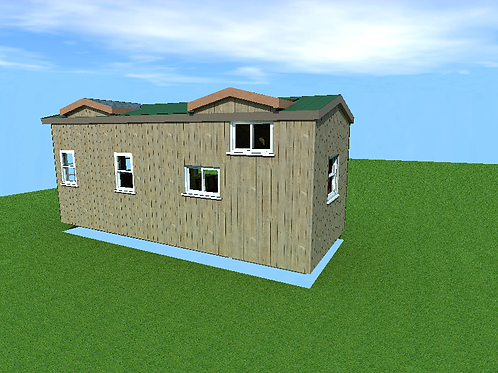 10' x 24' with a loft- Cabin Style