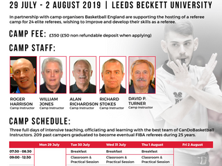 More opportunities - this time for experienced referees