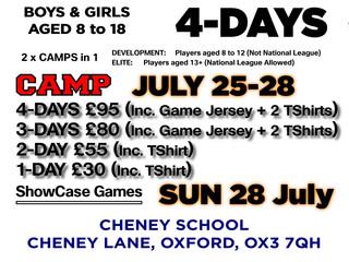 ENROL NOW: Oxfordshire Basketball Summer Camp!