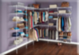 Organized Living Wire Closet