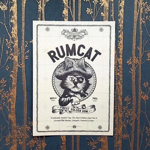 Rum Cat A3 Poster