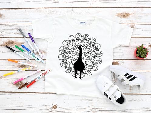 Peacock Coloring Shirt