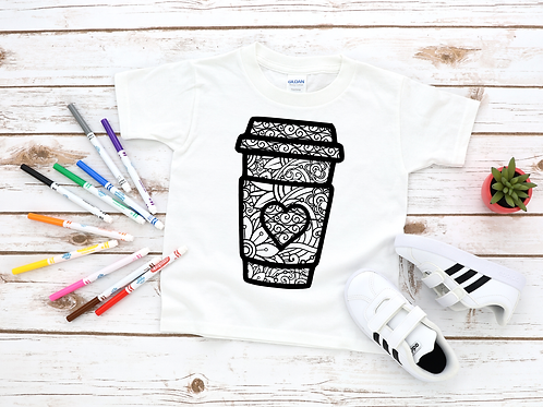 Coffee Cup Coloring Shirt