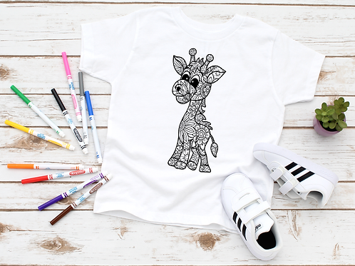 Giraffe Coloring Shirt