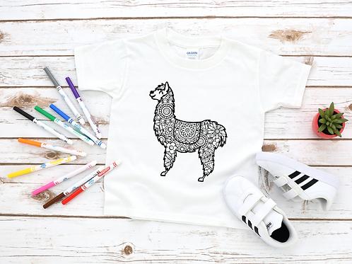 Llama Coloring Shirt