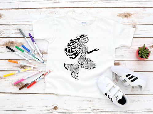 Mermaid Coloring Shirt