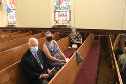 Bill Whittaker with Lay Presenters Tina Clarke and Gloria Watts