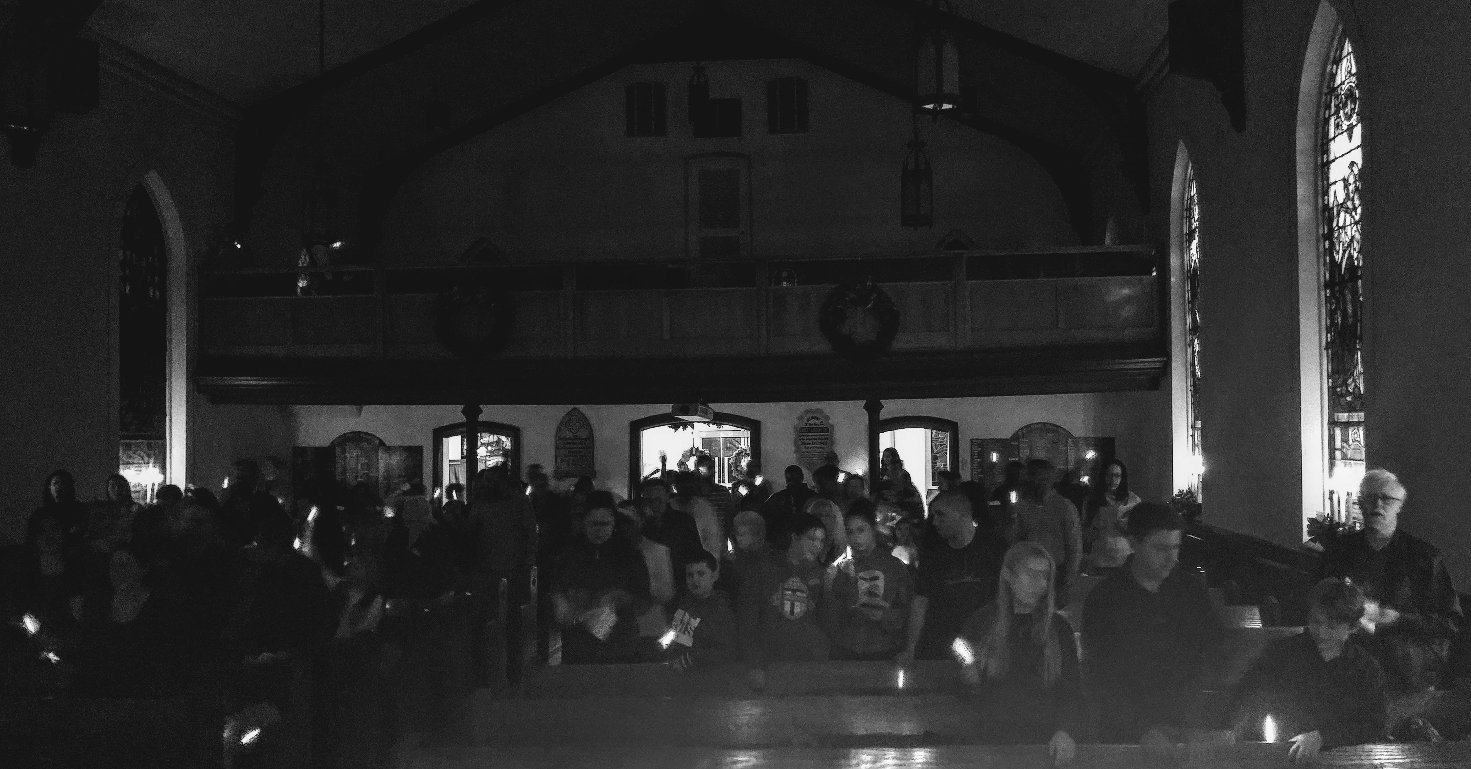 Candle Light & Glow Sticks @ 5:00 pm