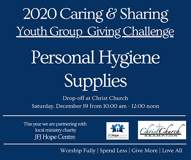 2020 Caring & Sharing Youth Group.Nov 24