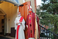 The Rev. Luigi Battista with Bp. Shaw