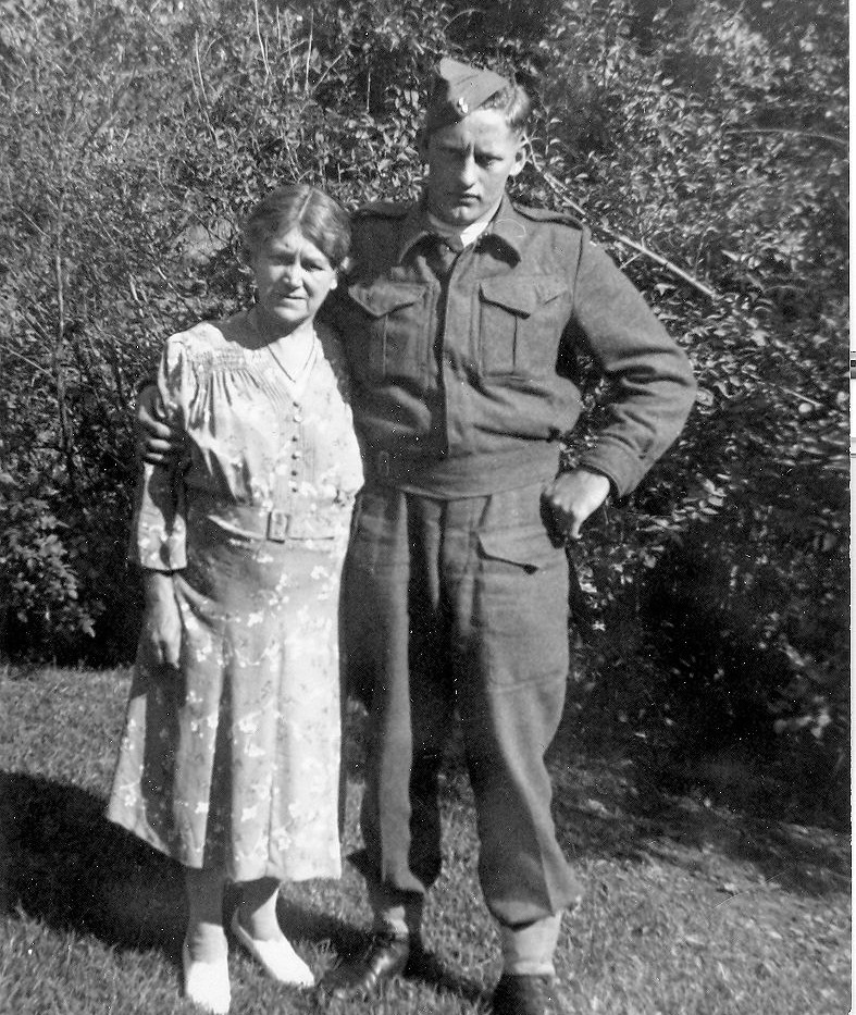 Bernard Thompson with his mother Gertrude