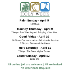 Holy Week & Easter were as full as ever