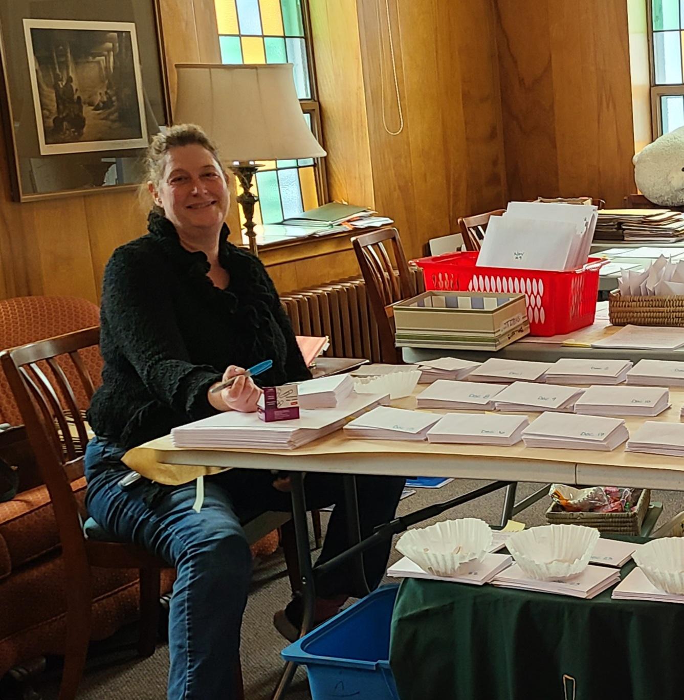 Tina prepares for Advent Event