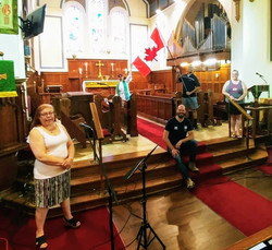 Celebrating Canada Day with a recording session