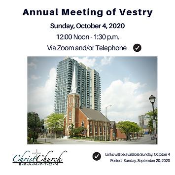 2020 Annual Meeting of Vestry Inst.Sep 2