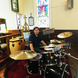 One of our percussionists ~ we are so grateful for those providing music