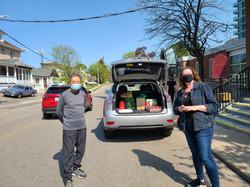 Tina helping unload