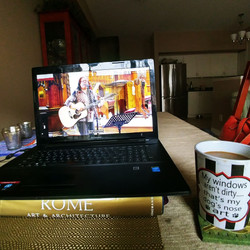 On-line Sundays has it's distinct advantages ~ there is always coffee