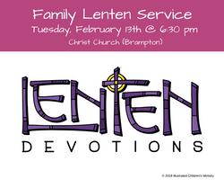 2018 Family Lenten