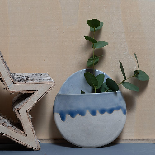 CERAMIC HANGING DRIPPY PLANTER (CLEAR SKY)