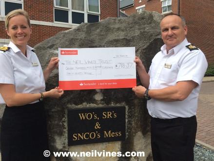 Royal Navy base raises hundreds for Neil's charity!