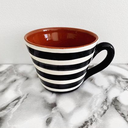 tapered mug - horizontal stripe