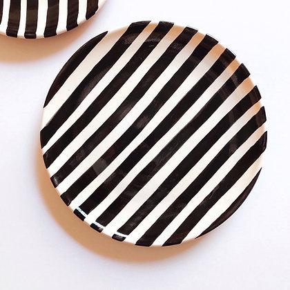 bold stripe plates