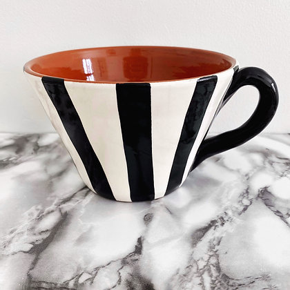 large tapered mug - vertical stripe