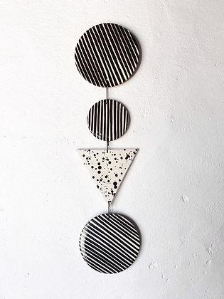 quartet - triangle wall hanging