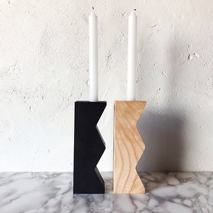 zig-zag candleholder