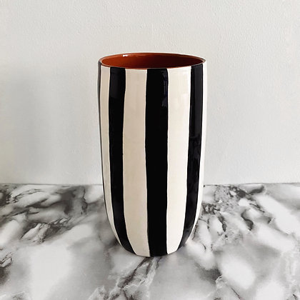 tall rounded tumbler - vertical stripe