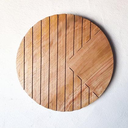 carved wood plaque - quarters
