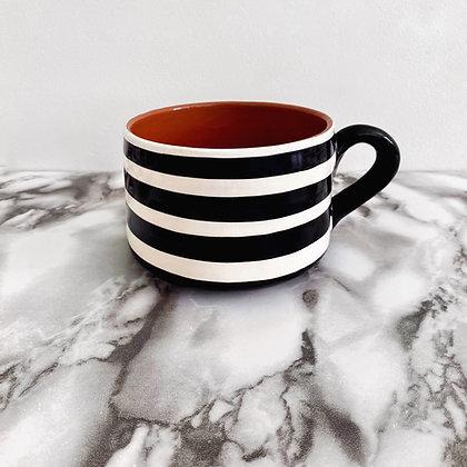 flat mug - horizontal stripe