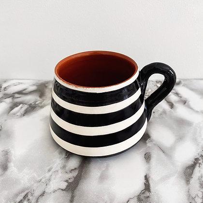 angled mug - horizontal stripe