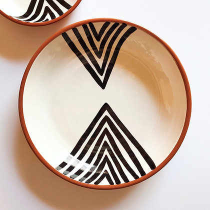 double chevron bowls